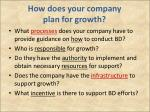 how does your company plan for growth