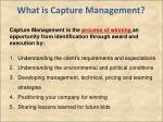 what is capture management