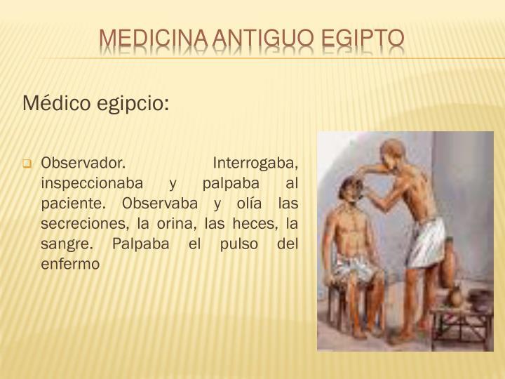 Médico egipcio: