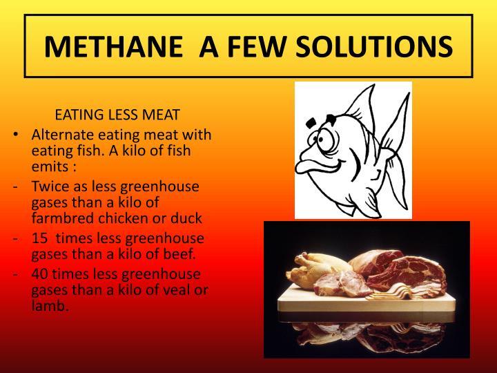 METHANE  A FEW SOLUTIONS