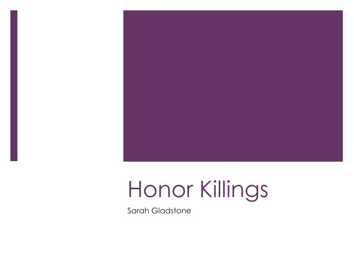honor killings n.