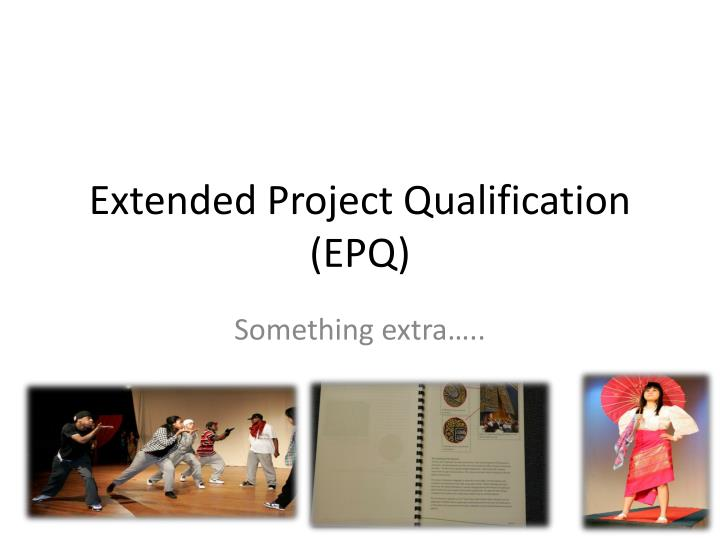 extended project qualification epq n.