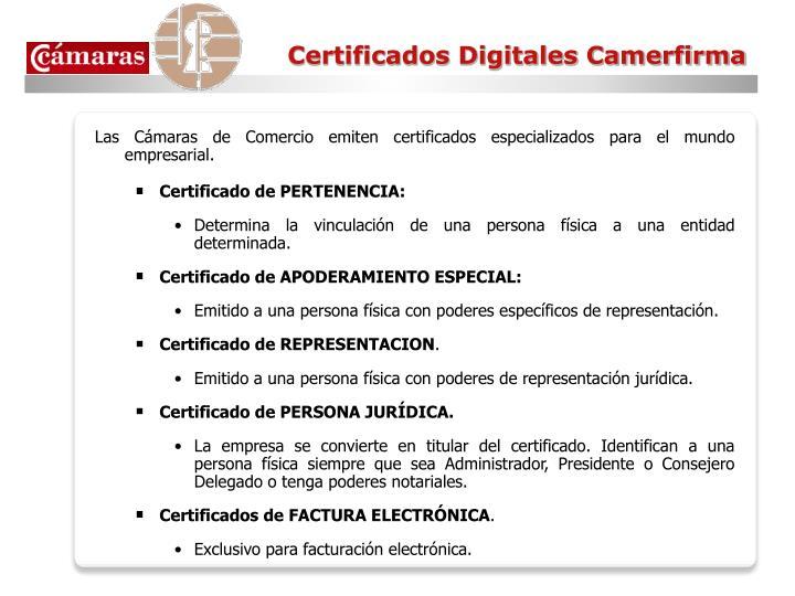 Certificados Digitales Camerfirma
