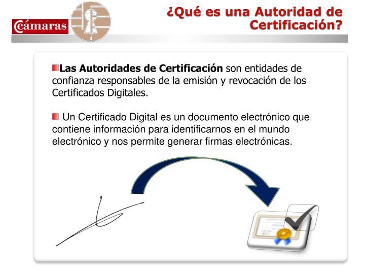 Qu es una autoridad de certificaci n