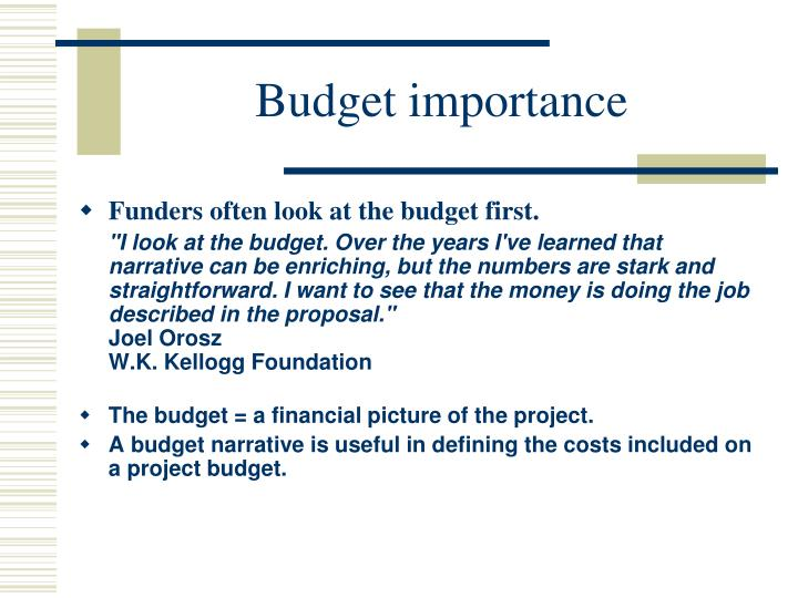 Budget importance