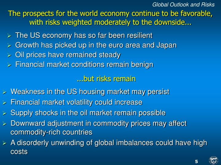 Global Outlook and Risks