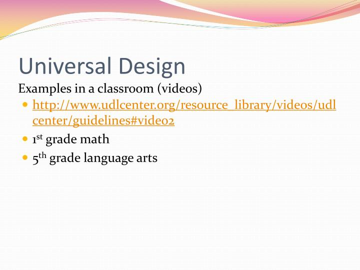 Universal Design Classroom Examples : Ppt keystones to opportunity kto powerpoint
