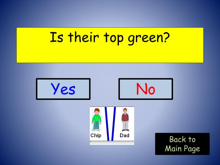 Is their top green?