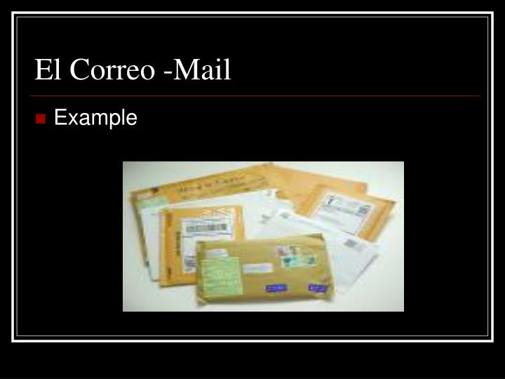 El correo mail