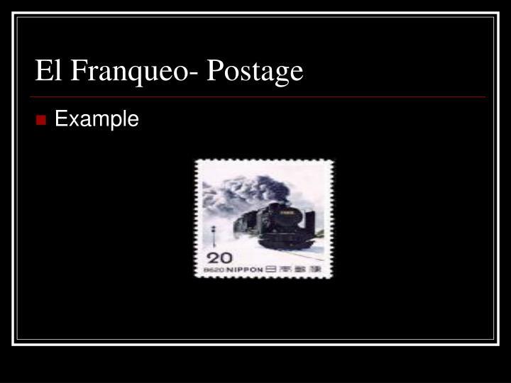 El Franqueo- Postage