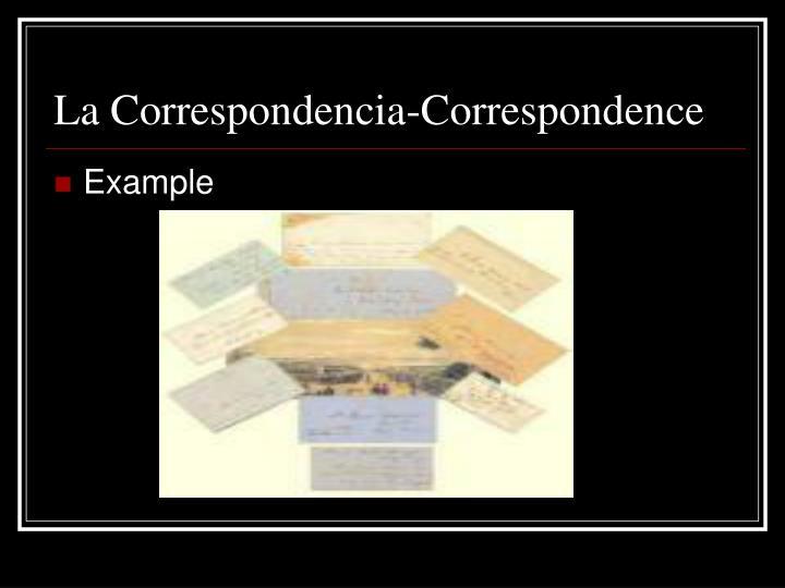 La correspondencia correspondence