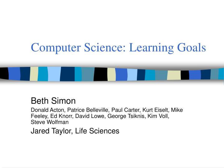 computer science learning goals n.