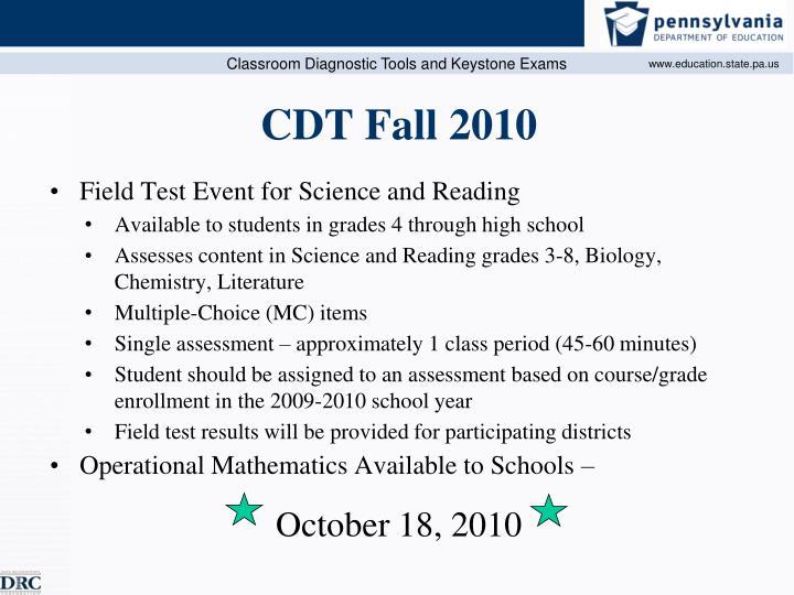CDT Fall 2010