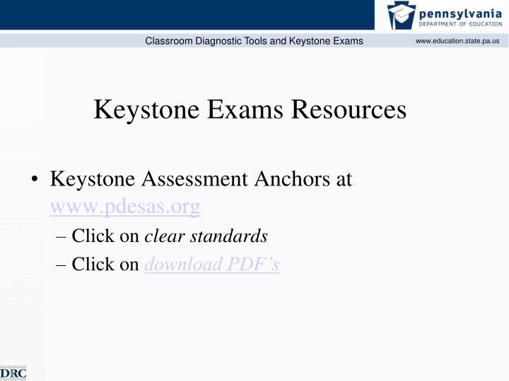 Keystone Assessment Anchors at