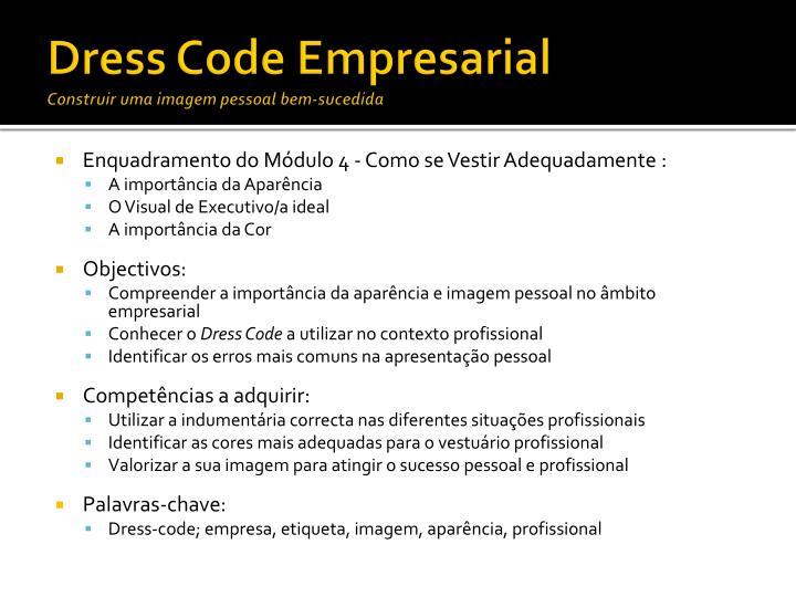 Dress code empresarial construir uma imagem pessoal bem sucedida1