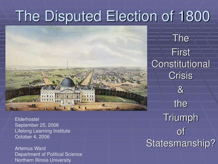 the disputed election of 1800 n.
