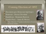 coming election of 1892