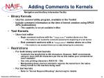 adding comments to kernels