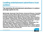 leading entertainment advertisers trust outdoor