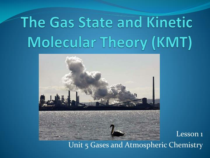the gas state and kinetic molecular theory kmt n.