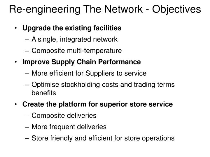 Re-engineering The Network - Objectives