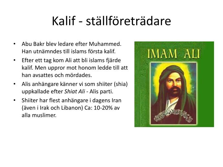 Kalif st llf retr dare