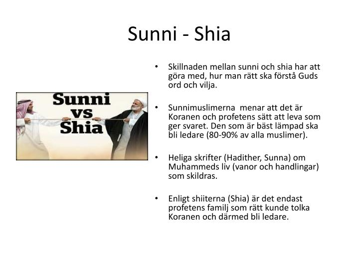 Sunni - Shia