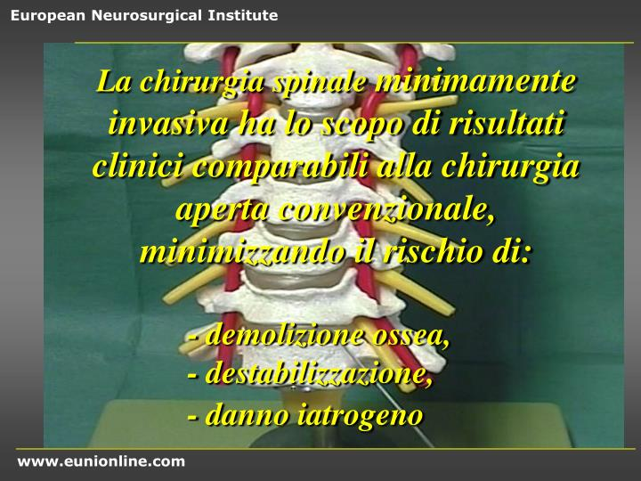 La chirurgia spinale