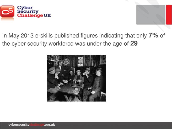 In May 2013 e-skills published figures indicating that only