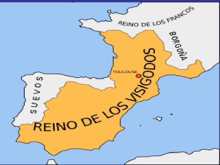 La tribu visigoda que estaba establecida en la Antigua Galia fue echada de ésta y se vieron forzados a entrar en la Península Ibérica. Los visigodos entraron forzados en la Península Ibérica y echaron a los alanos de ésta.
