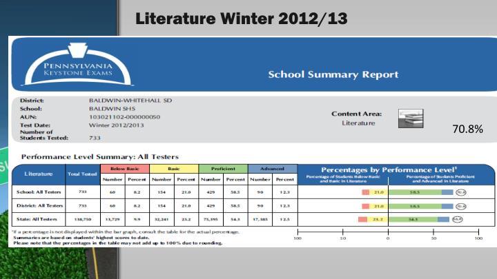 Literature Winter 2012/13