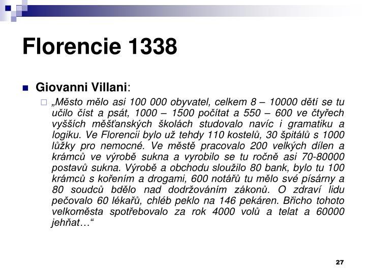 Florencie 1338