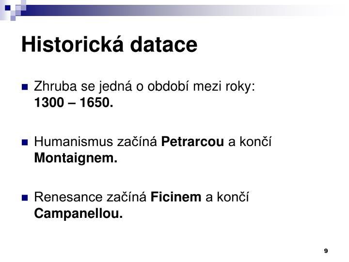 Historická datace