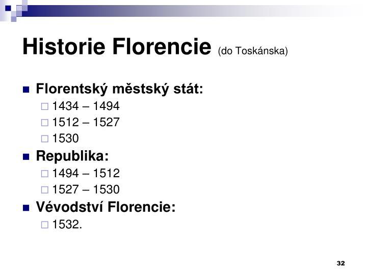Historie Florencie