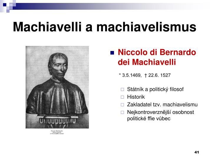 Machiavelli a machiavelismus