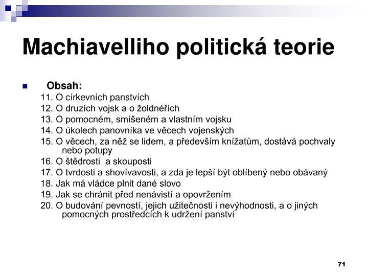 Machiavelliho politická teorie