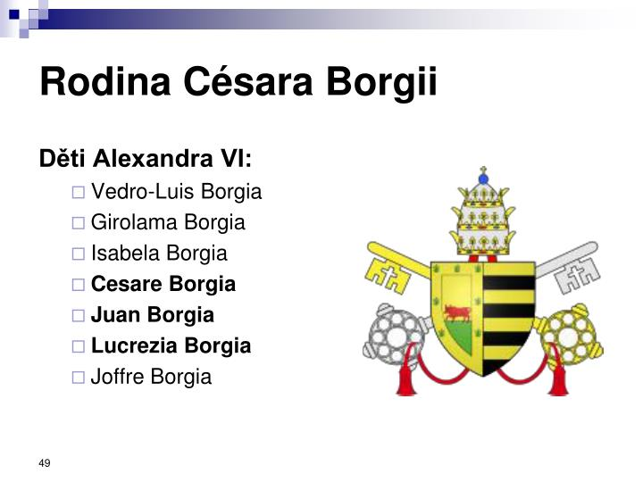 Rodina Césara Borgii