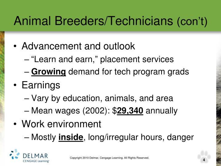 Animal Breeders/Technicians