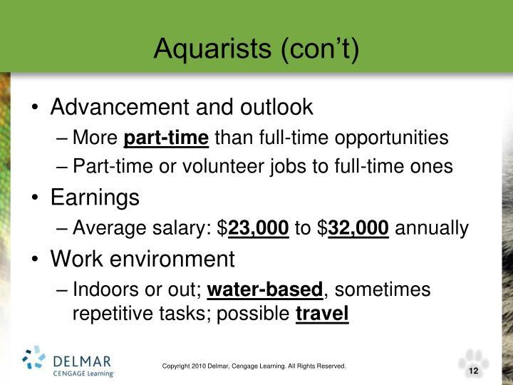 Aquarists (con't)