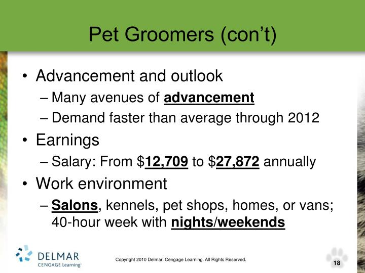 Pet Groomers (con't)