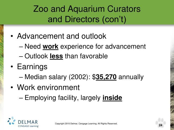 Zoo and Aquarium Curators