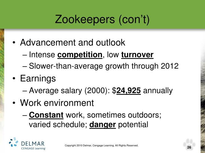 Zookeepers (con't)