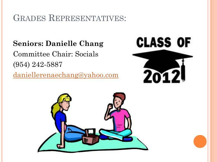 Grades Representatives: