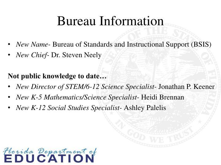 Bureau information