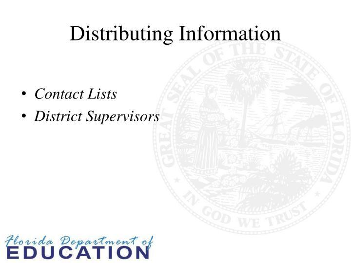 Distributing information