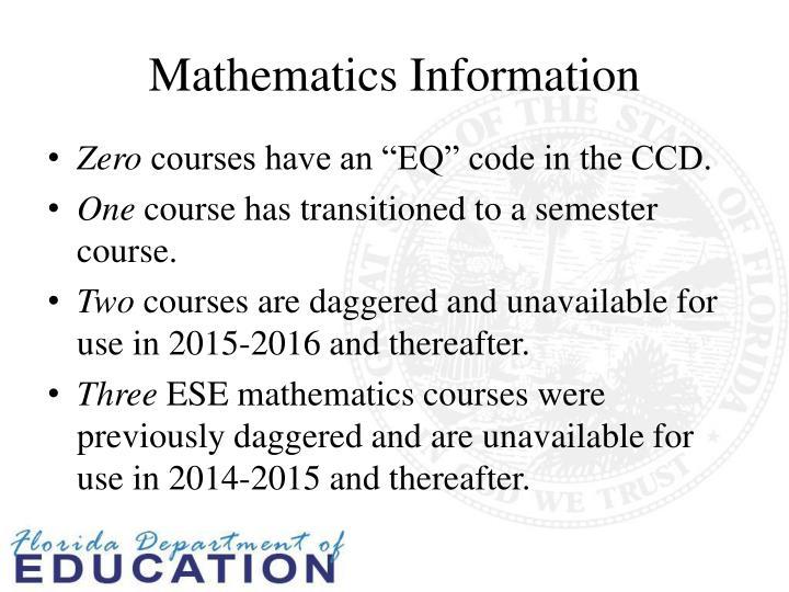 Mathematics Information