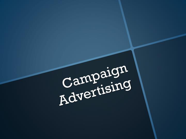 campaign advertising n.