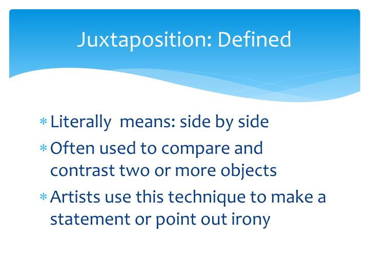 compare and contrast 2 objects Comparison and contrast are broad terms which indicate you are to judge two people or objects or institutions or whatever against a set of principles one of the best ways to learn how to use comparison and contrast is to learn what not to do.