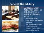 federal grand jury