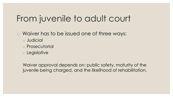 should juvenile be charged as adults Juvenile justice: should minors be charged as adults a movement has started in our country to renovate the juvenile justice system this movement wants to erase any differences between young offenders and adult criminals.